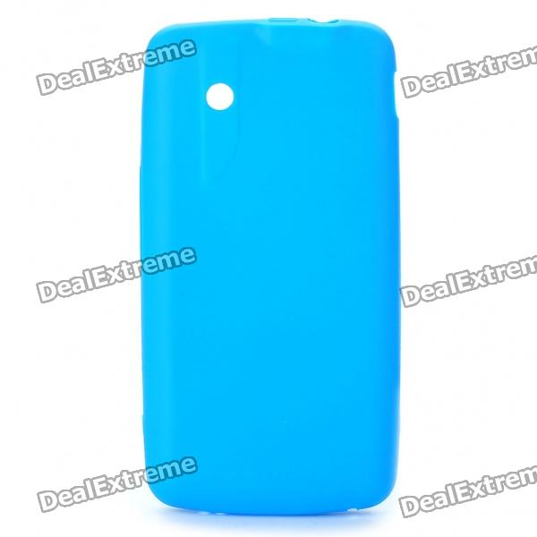NILLKIN Protective Matte Frosted Soft TPU Case w/ Screen Protector + Cleaner for ZTE V880 - Blue