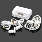 Designer's Charging Dock w/ USB Charging / Data Cable / 3.5mm Earphone Set for iPhone 4 / 4S