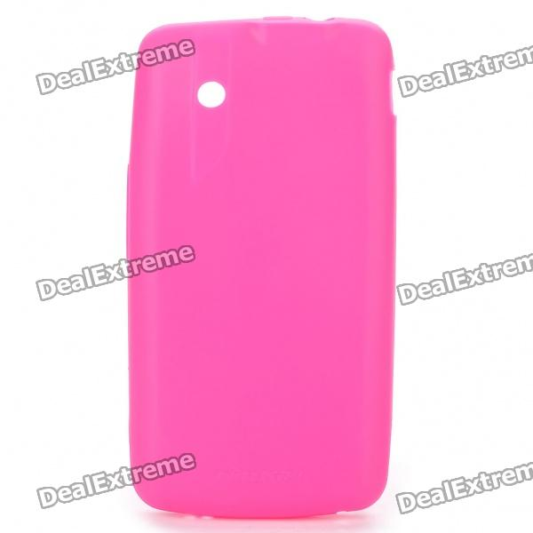 NILLKIN Protective Matte Soft TPU Case w/ Screen Protector + Cleaner for ZTE V880 - Deep Pink