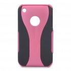 Unique Wineglass Style Protecting Back Case for Iphone 3g / 3GS - Pink + Black