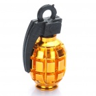 Buy Cool Grenade Shaped Bicycle Bike Tyre Tire Valve Dust Cap Cover - Gold (2 Piece Pack)