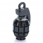 Cool Grenade Shaped Bicycle Bike Tyre Tire Valve Dust Cap Cover - Black (2 Piece Pack)