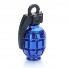 Cool Grenade Shaped Bicycle Bike Tyre Tire Valve Dust Cap Cover - Blue (2 Piece Pack)
