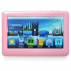 Portable 4.3&quot; Touch Screen Multi-Media Player w/ FM / 3.5mm Jack / TV-Out / TF Slot - Pink (4GB)
