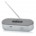 Rechargeable Wireless Bluetooth V2.1 MP3 Music Speaker Player w/ Antenna/FM/TF - Silver