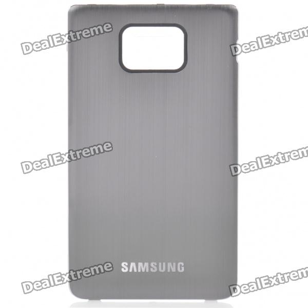 Replacement Aluminum Alloy Wire Drawing Back Cover for Samsung i9100 Galaxy S2 - Grey