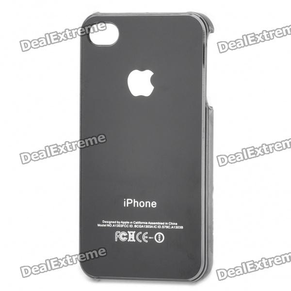 Fashionable PVC Protective Back Case for iPhone 4/4S - Black