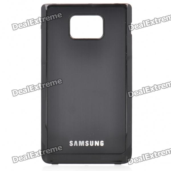 Protective Aluminum Alloy Wire Drawing zurück Fall für Samsung i9100 Galaxy S2 - Black