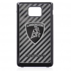 Replacement Mirror Battery Back Cover Case with Lamborghini Logo for Samsung i9100 Galaxy S2