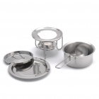 Stylish Stainless Steel Seasoning Flavor Pot Set - Silver