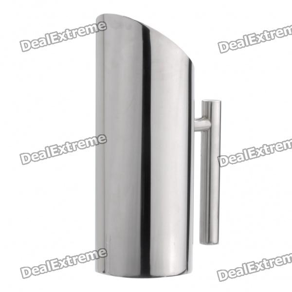Oblique Mouth Stainless Steel Cold Water Pot Bottle with Handle - Silver (1200ml) stainless steel handle cuticle fork silver