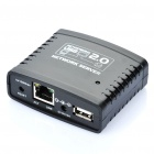 USB 2.0 to Ethernet Network Server Adapter with 4-Port HUB / RJ45 Port - Black