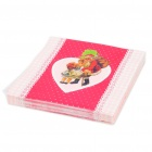 Christmas Santa Claus Style Paper Napkin Serviettes (20-Piece Pack) 