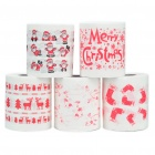 Cute Christmas Cartoon Patterns Roll Tissue - Random Style