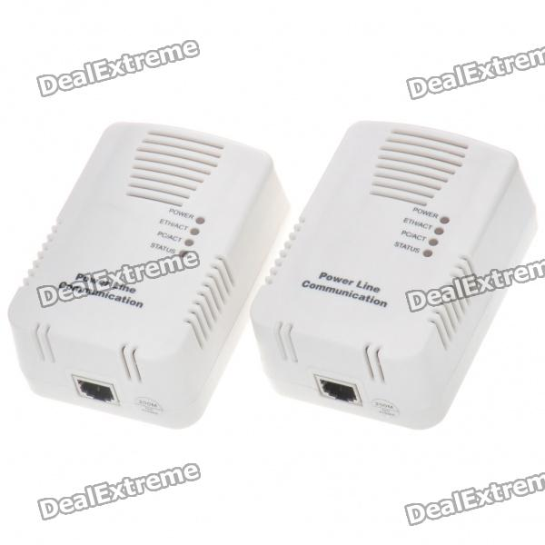 200Mbps RJ45 Communication Ethernet Homeplug PowerLine Adapters (Pair/110~240V)