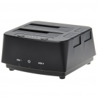 "USB 2.0, двойной 2,5 ""/ 3,5"" SATA HDD Docking Station - Black"