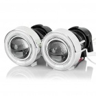 55W 3000K 1100-Lumen 1-LED Warm White Car Fog Halogen Lamps w/ Blue Light Angel Eyes (DC 12V/Pair)