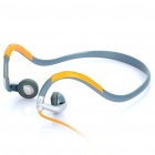 Stylish Sports Stereo Neckband Headphones - Orange (3.5mm Jack)