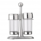 Compact Kitchen Spice Jar Bottle Set - Silber + Transparent (2-teilig)