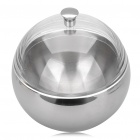 Stainless Steel Spherical Ice Bowl - Silver + Tranparent