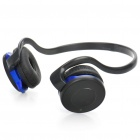 Fashion Bluetooth Stereo Handsfree Headset Earphone with Microphone - Black + Blue