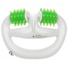 Vibration Body Slimming Anti Cellulite Roller Massager - White + Green (2 x AA)