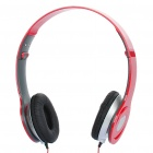 Folding Fashion Stereo Sports Headphones - Red (3.5mm Jack)