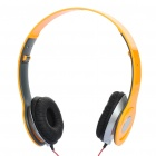 Folding Fashion Sports Stereo Headphones - Yellow (3.5mm Jack)