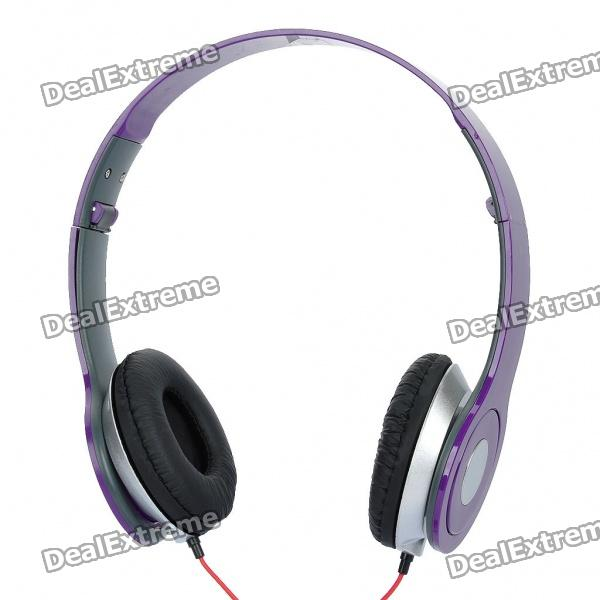 Fashion Folding Stereo Sport Kopfhörer - Purple (3,5 mm Klinke)