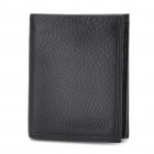 Designer's Cowhide Leather Horizontal Style Wallet Purse - Black