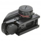 1X 33mm Tactical Red/Green Reticle Dot Sight Scope with Gun Mount - Black (1 x CR2032)