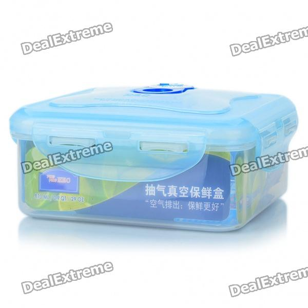 Square Shaped Fresh Food Box Storage Container - Transparent (870ml)