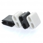 Square Shaped Wire Cord Cable Clip Organizer (4-Piece Pack)