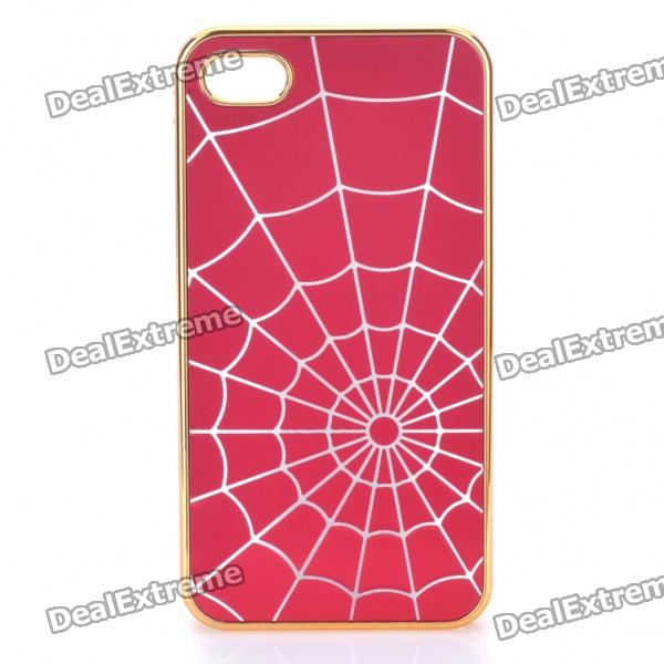 Stilvolle Spider Web Stil Protective zurück Fall für iPhone 4/4S - Red