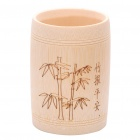 Stylish Bamboo Pattern Pen Holder Container - Yellow