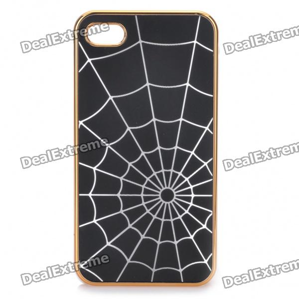 Stylish Spider Web Style Protective Back Case for iPhone 4/4S - Black