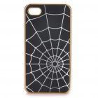 Stilvolle Spider Web Stil Protective zurück Fall für iPhone 4/4S - Black