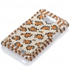 Shining Rhinestone Leopard Skin Pattern Protective Plastic Back Case for Samsung Galaxy S2 / i9100