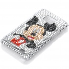 Cute Rhinestone Mickey Mouse Pattern Protective Plastic Back Case for Samsung Galaxy S2 / i9100