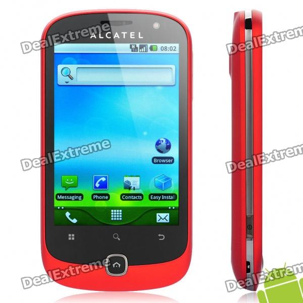 ALCATEL OT-990M 3.5 Capacitive Screen Android 2.2 3G WCDMA Smartphone w/ GPS + WiFi - Red (4GB TF) женские часы tokyobay tram t105 bu