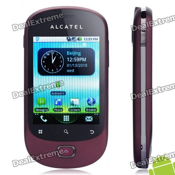 "ALCATEL OT-908M 2.8"" Capacitive LCD Android 2.2 3G WCDMA Smartphone w/ GPS + WiFi - Rose Pink"
