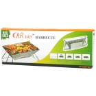 Portable Folding Stainless Steel BBQ Barbecue Grill Set (Size-L)