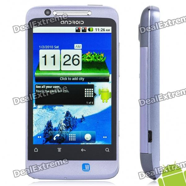 "G510 3.5"" Touch Screen Dual SIM Dual Android 2.3 Quadband Smartphone w/GPS + TV + WiFi - Purple"