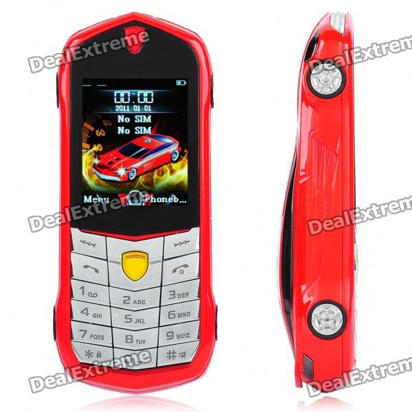 "Car Style-F430 1,8 ""LCD Screen Dual SIM Dual Network Standby Dualband Handy w / FM - Red"