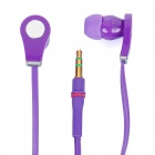 Designer's Cool In-Ear Stereo Earphone - Purple (3.5mm Jack/110cm-Cable)