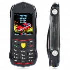 "Car Style-F430 1,8 ""LCD Screen Dual SIM Dual Network Standby Dualband Handy w / FM - Black"