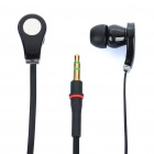 Designer's Cool In-Ear Stereo Earphone - Black (3.5mm Jack/110cm-Cable)