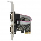 Dual Serial RS-232 Ports PCI-Express Multi I/O Card