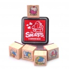 The Smurfs Cartoon Wooden Stamp Set - Random Style (6-Piece Set)