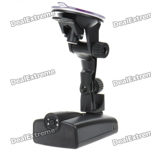 2-in-1 3.0MP CMOS Car DVR Kamera + Radar Detector w / 4-IR LED Night Vision / TF / Mini USB (DC 12V)